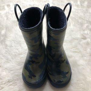 Camo Dinosaur Rain Boots Size 10